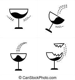 The wineglass icon