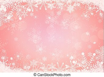 gradient Christmas background snowflake and snow border