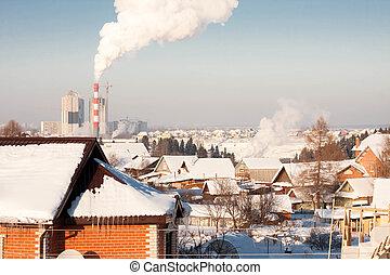 the winter rural landscape
