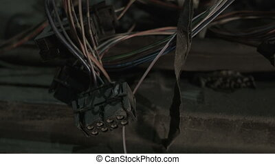 The wires in the car