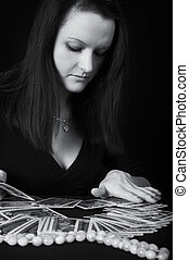 The woman fortuneteller - The woman the fortuneteller on a ...