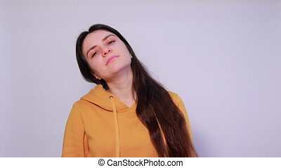 The woman had a neck, muscle cramp and tension. Osteochondrosis of the cervical spine, spasm and pain, herniated discs and sciatica, neuralgia convulsion.