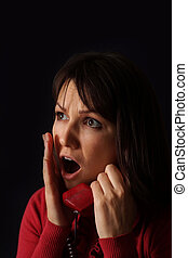 The woman heard the bad news