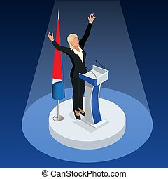 The woman is the winner in the elections. Presidential Elections in France 2017