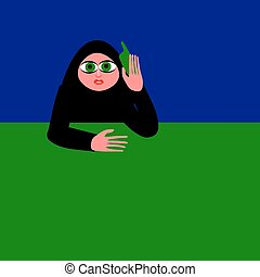 The woman on the phone