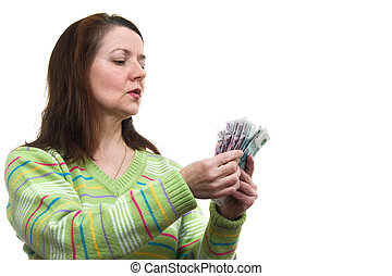 The woman with money