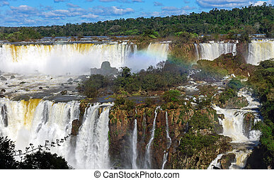 The wonderful Iguazu waterfalls
