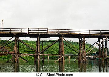 The wood bridge in Sangklhaburi