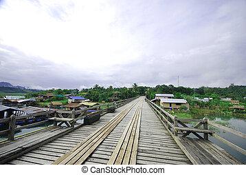 The wood Mon bridge in Sangkhlaburi