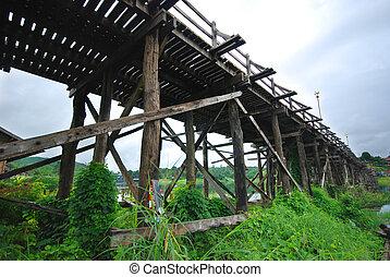 Mon bridge in Sangkhlaburi Kanchanaburi