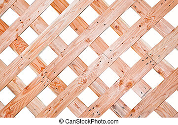 The Wood wall isolated on white background