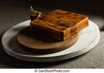 The wooden boards