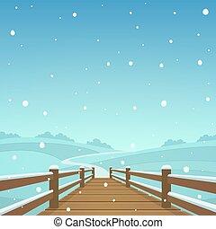 The wooden bridge
