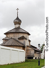 the wooden church in St. John the Forerunner Convent, Sviyazhsk, Russia
