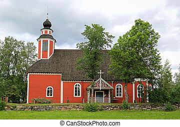 The wooden church of Metsamaa, Loimaa, Finland
