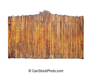 wooden gate isolation on a white background