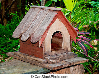 The Wooden house of bird