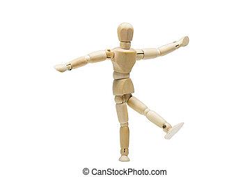 The wooden man dancing