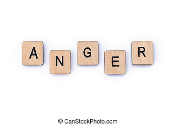 The word ANGER