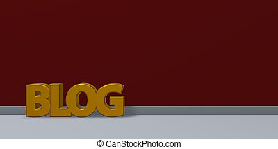 the word blog - 3d rendering