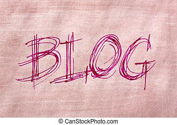 The word Blog handwriting in sketch like style