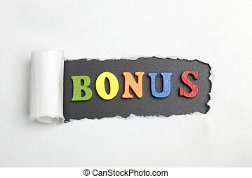 The word bonus.