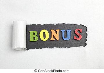 The word bonus.