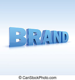 The word brand, volumetric, three-dimensional, vector with...