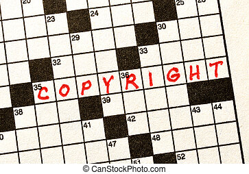 The Word Copyright on Crossword Puzzle