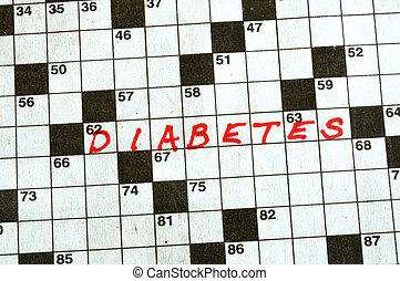 The Word Diabetes on Crossword Puzzle