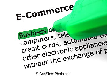 The word e-commerce