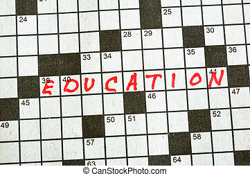 The Word Education on Crossword Puzzle