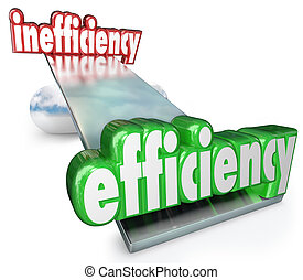 The word Efficiency wins in the balance against Inefficiency...