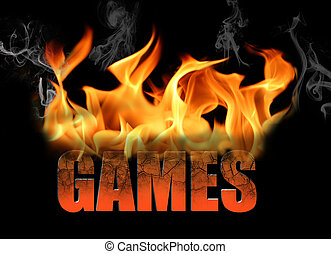 The Word Games in Flame Text