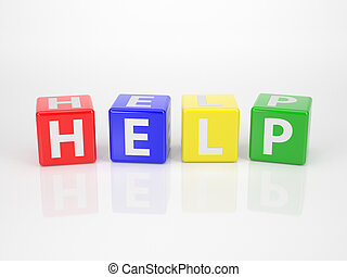 Help out of multicolored Letter Dices - The Word Help out of...