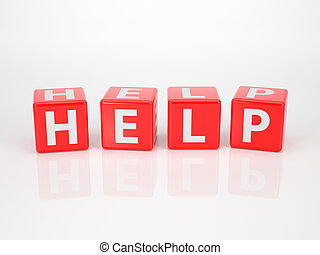Help out of red Letter Dices - The Word Help out of red ...
