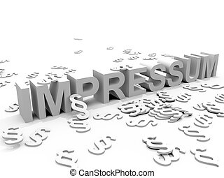 The Word Impressum surrounded by Paragraph signs ?