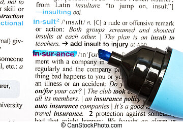 """The word """"Insurance"""""""