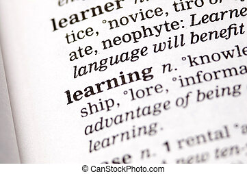 The word learning written in a thesaurus