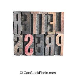 word \\\'letterpress\\\'