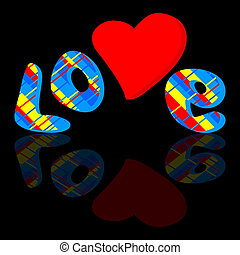 Love on a black background