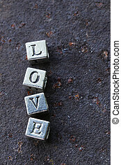 "the word ""LOVE"""