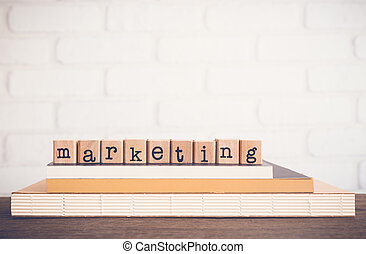 The word Marketing and blank space background.