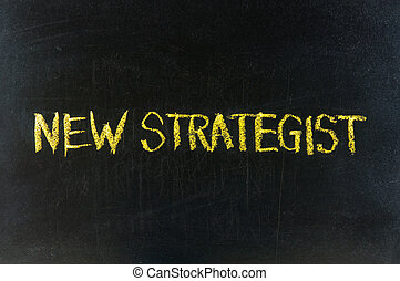 The word NEW strategy