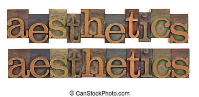 aesthetics - the word of aesthetics in vintage wood...