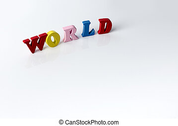 The word of the world on white background.