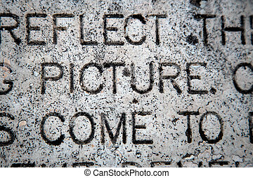 """The Word """"Picture"""" on Granite"""