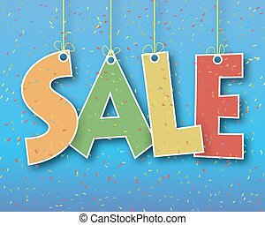 the word sale hanging on a thread