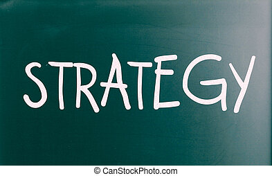 "The word ""Strategy"" on a blackboard"