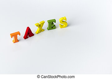 The word tax on white background